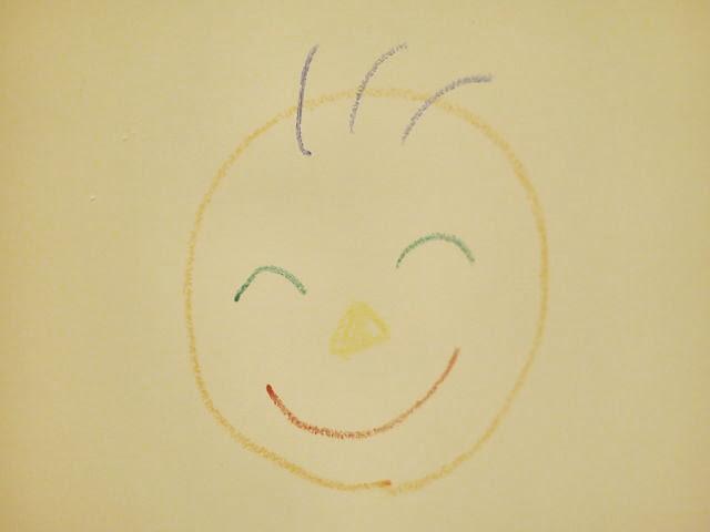 お風呂の壁に絵を描いた写真
