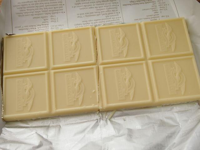 開封直後チョコレートの写真