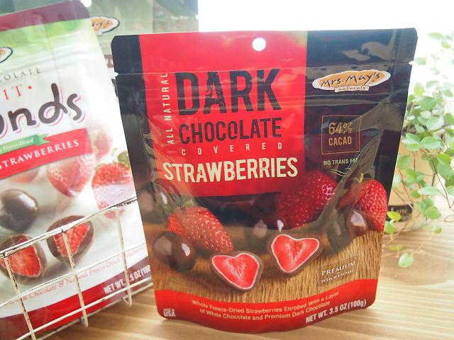 いちご入りチョコレートの写真