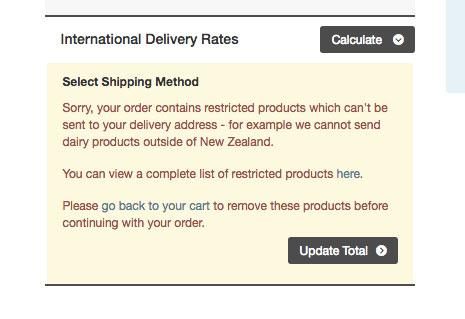 購入できない商品の表示