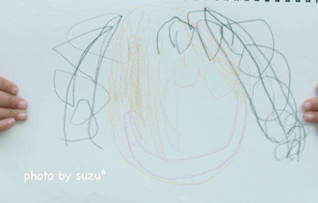 娘の描いた母の写真