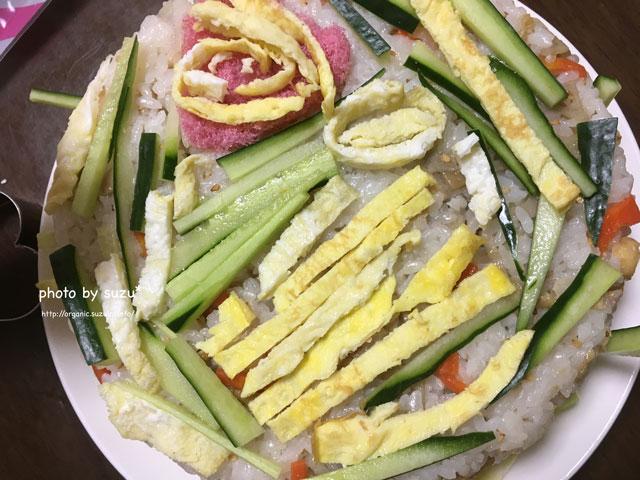 寿司ケーキの画像