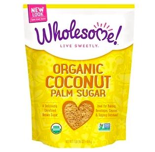 Wholesome Sweeteners, Inc., Organic Coconut Palm Sugar, 1 lb. (16 oz) - 454 g