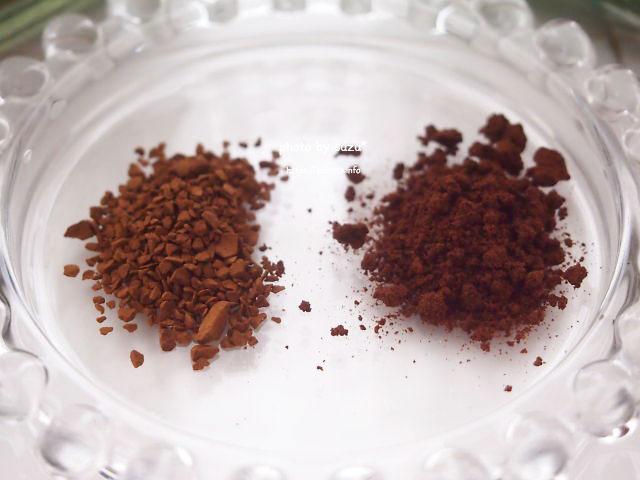 コーヒー粒を比較した画像