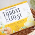 Jakemans, Throat & Chest、ハチミツとレモン味、トローチ 24錠